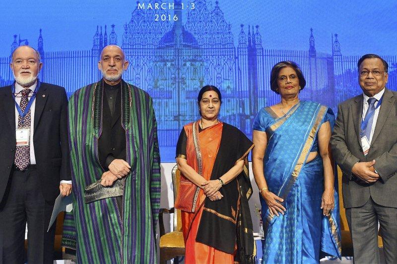 印度2016年瑞辛納對話(Raisina Dialogue)(美聯社)