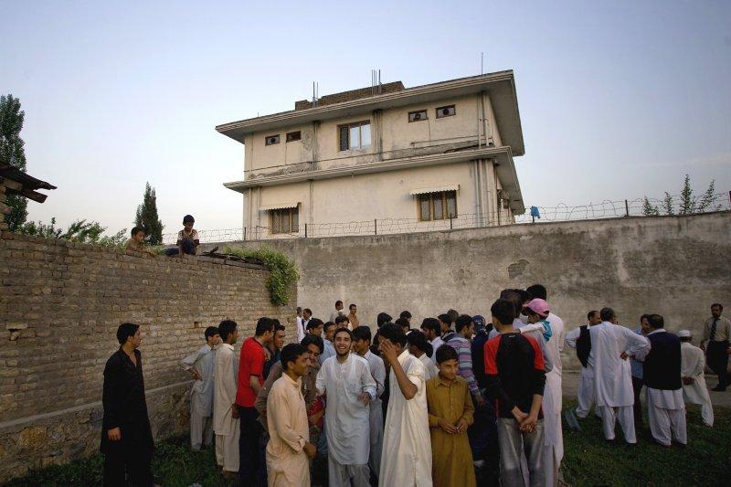 賓拉登喪命的巴基斯坦居所外觀。(美聯社)