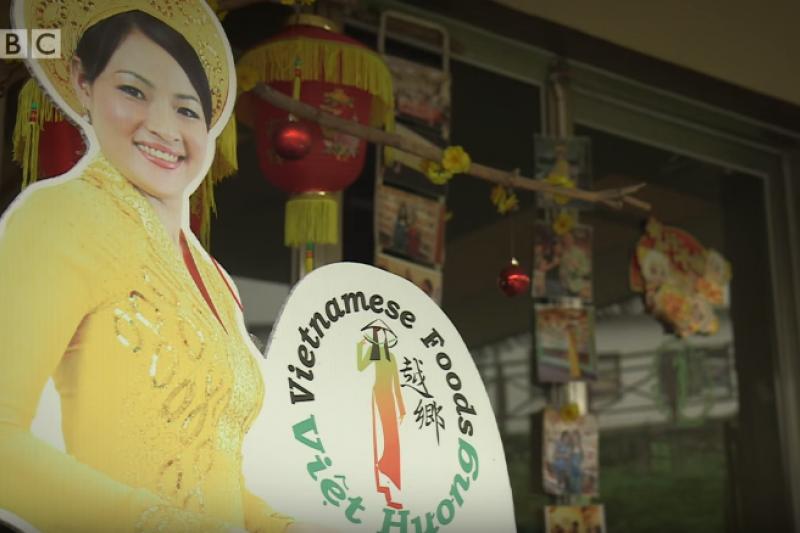 越南小店漸漸成為台灣多元文化的新景點。(圖/BBC中文网@youtube)