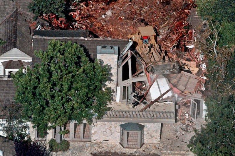 當年發生兇殺案的辛普森住處。(美聯社)