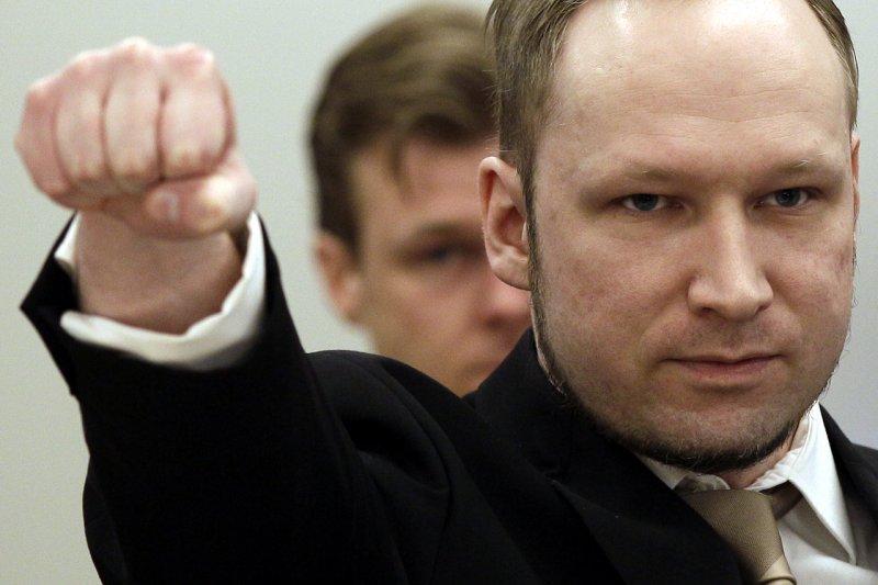 2011年挪威奧斯陸(Oslo)爆炸案和于特島(Utøya)大屠殺主嫌布雷維克(Anders Behring Breivik)(美聯社)