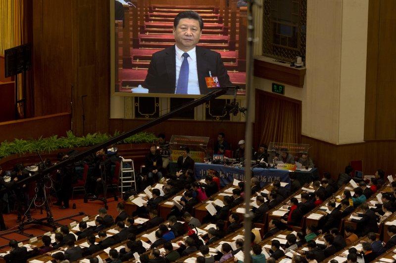 中共中央總書記、國家主席、中央軍委主席習近平主持會議(美聯社)