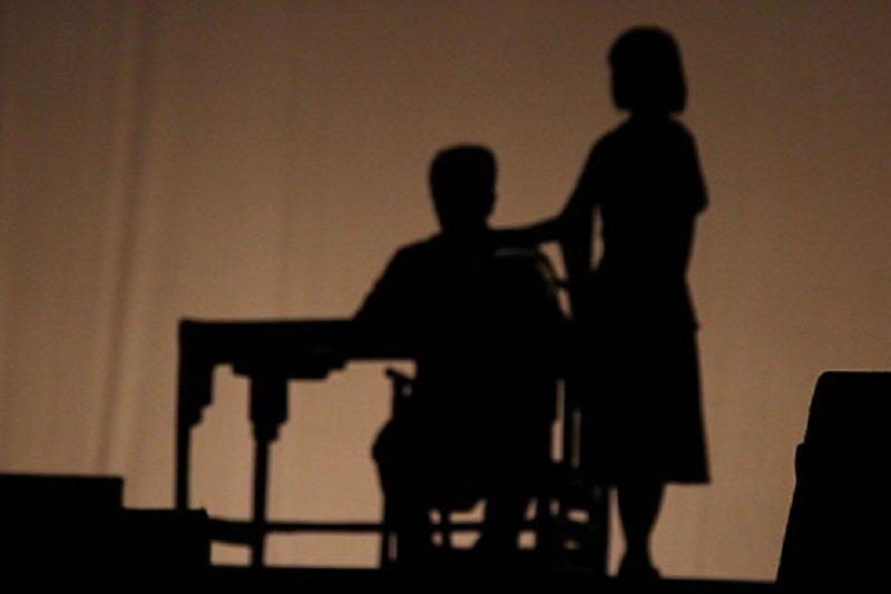 圖為廣東經貿大學演出《宗岱的世界》原創話劇中的剪影。