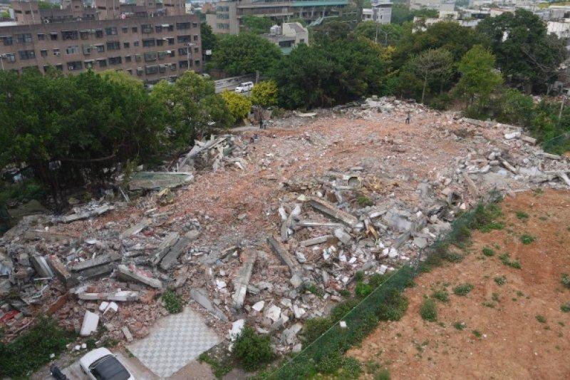 2015年4月寡婦樓遭惡意拆毀。(取自新竹市文化局)