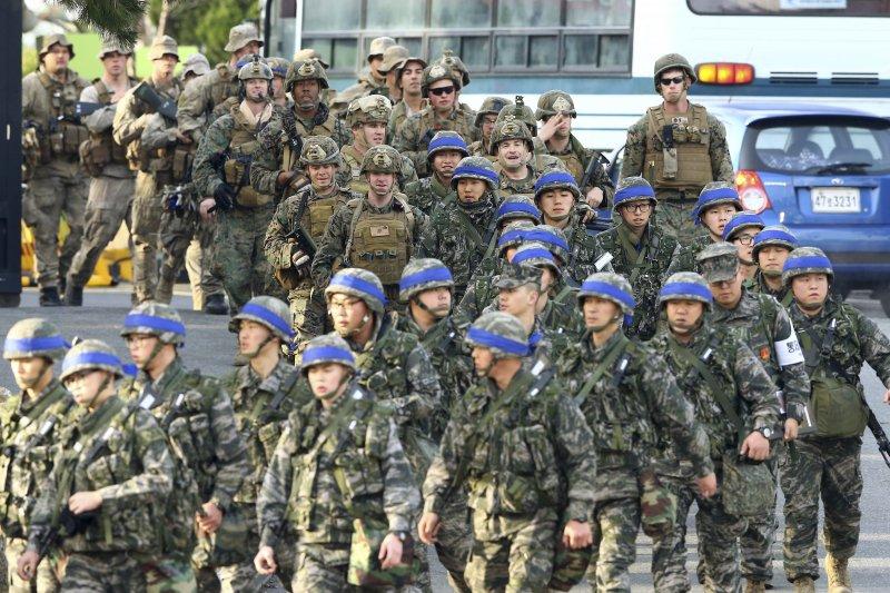 美韓聯合軍演「關鍵決斷」7日正式開始。(美聯社)