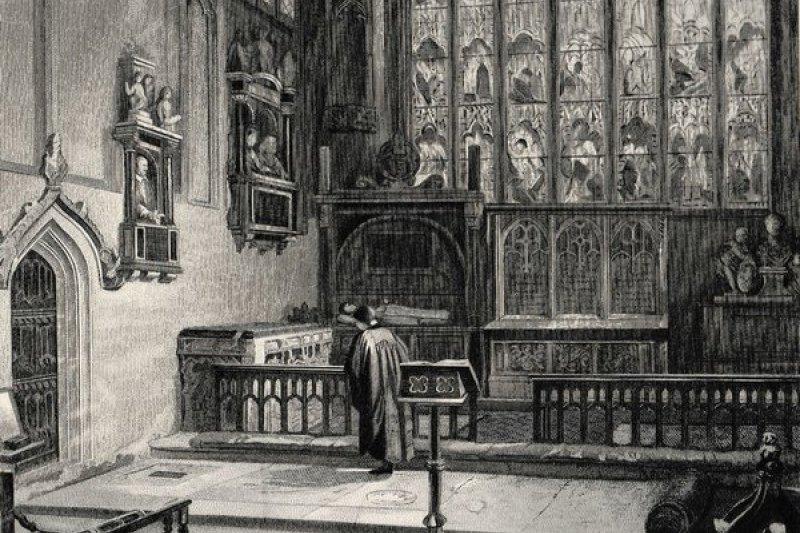 英國大文豪莎士比亞之墓。(取自推特)