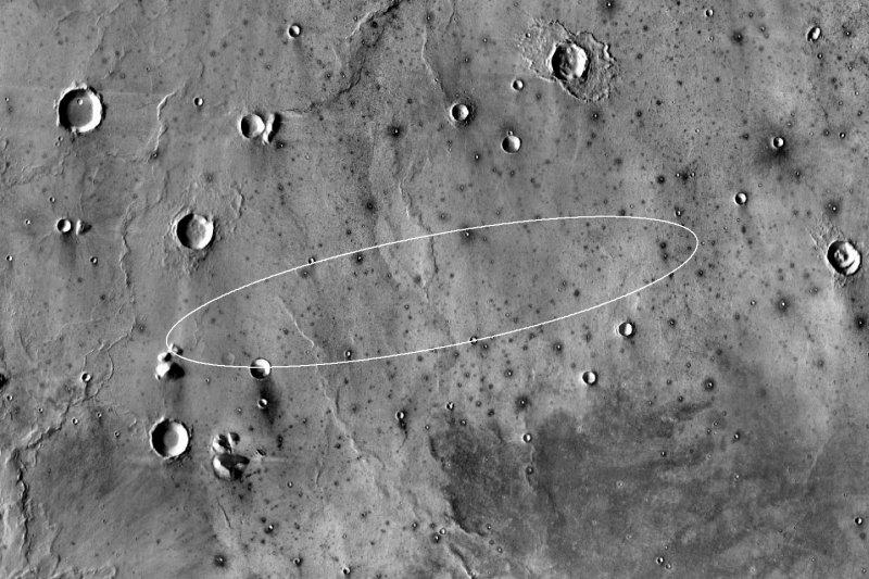 火星探測任務「洞察號」(InSight)無人著陸探測器預定降落地點(NASA)