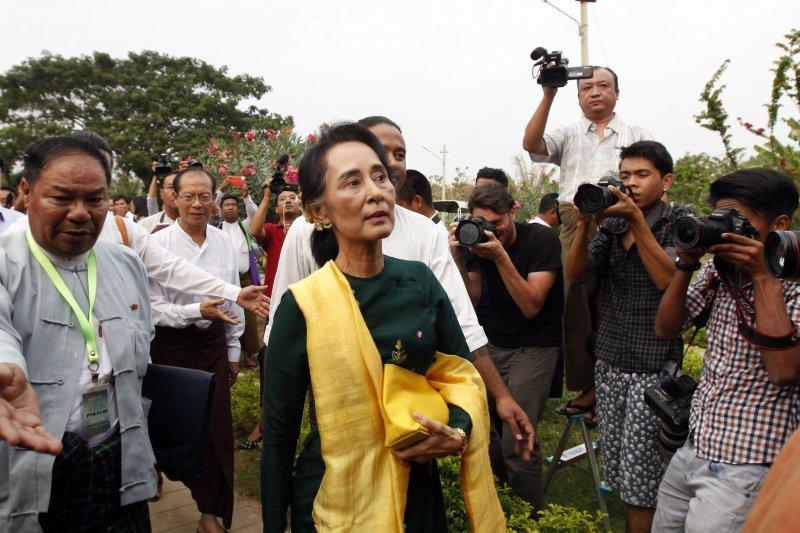 翁山蘇姬確定無法角逐緬甸總統大位。(美聯社)