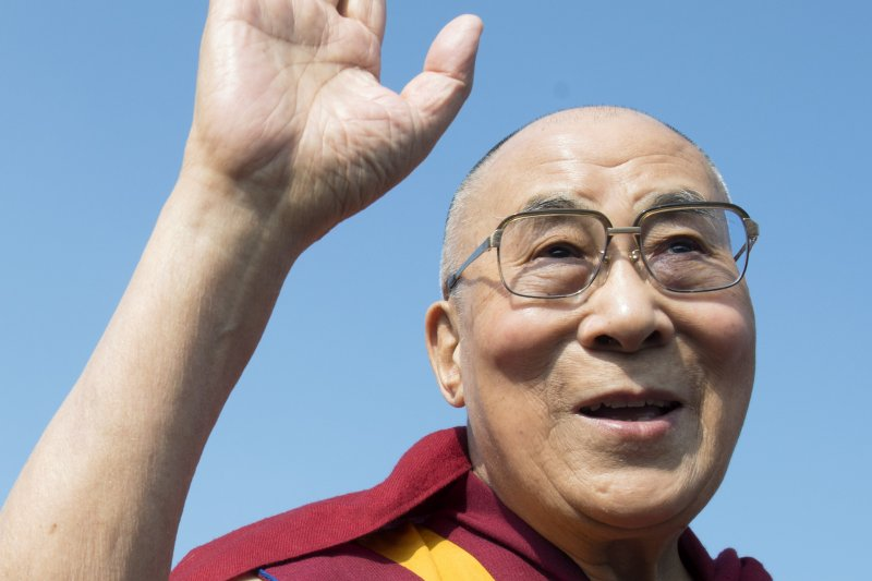 西藏最高精神領袖達賴喇嘛,瑞士日內瓦(美聯社)