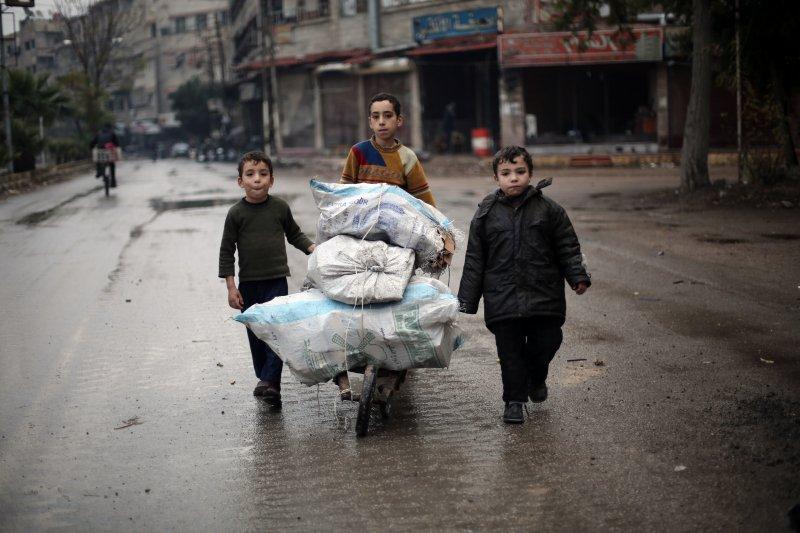 敘利亞孩童(美聯社)
