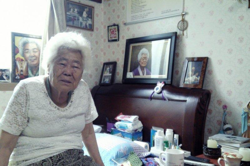 李玉善戰時被抓到慰安所,活到現在,願望只是聽到日本的一句對不起。(圖/香港01/作者提供)