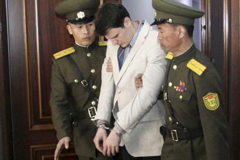 遭北韓當局判處15年勞改的美國大學生瓦姆比爾。(資料照,美聯社)