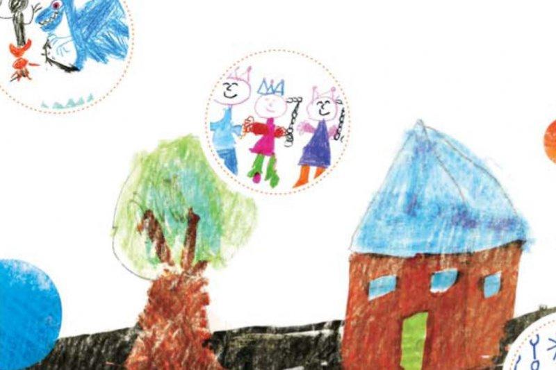 從孩子繪畫中的色彩,可看出他們的心理性格。(圖/秀威少年)