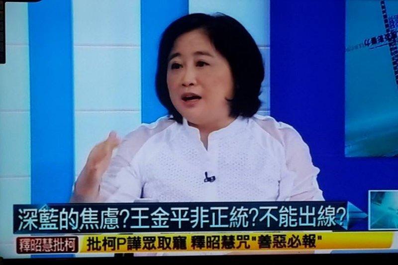 政論節目名嘴陳敏鳳去年指控總統馬英九收受電子業2億元案,一審判決陳敏鳳免賠。(取自陳敏鳳臉書)