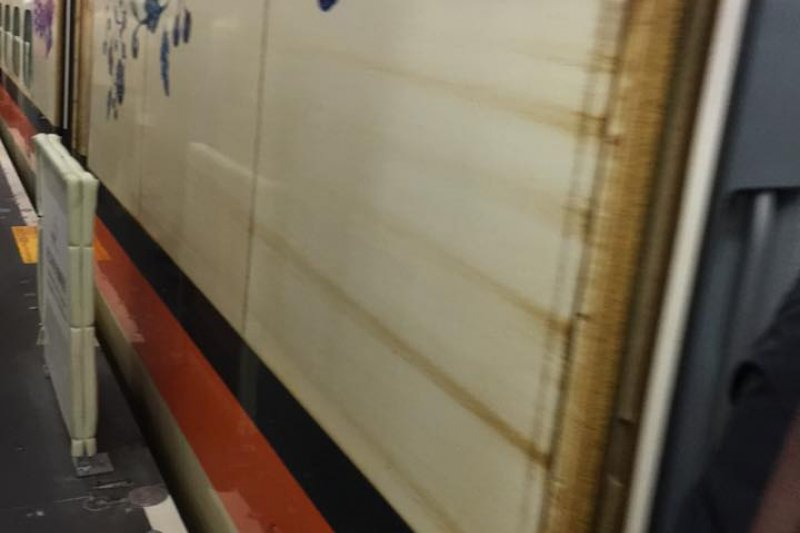 管碧玲臉書po文,表示高鐵是國家的門面,坐令它髒得離譜,再怎麼說,都不應該!(取自管碧玲臉書)