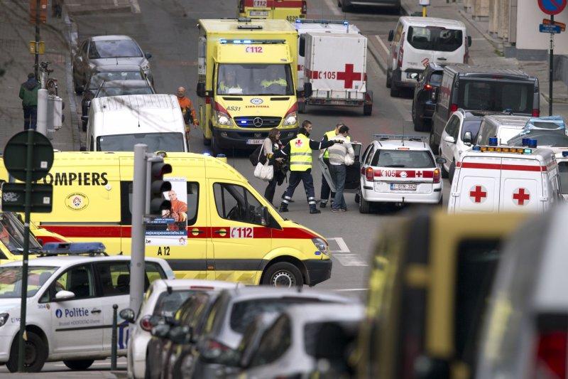 布魯塞爾馬爾貝克地鐵站22日發生爆炸攻擊,造成慘重死亡。(美聯社)