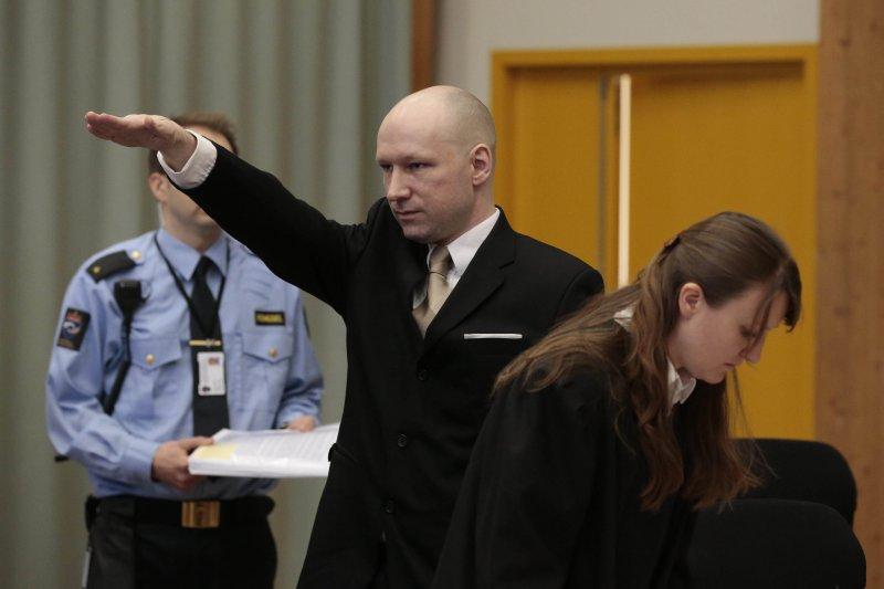 挪威極端分子布雷維克(Anders Behring Breivik)(美聯社)