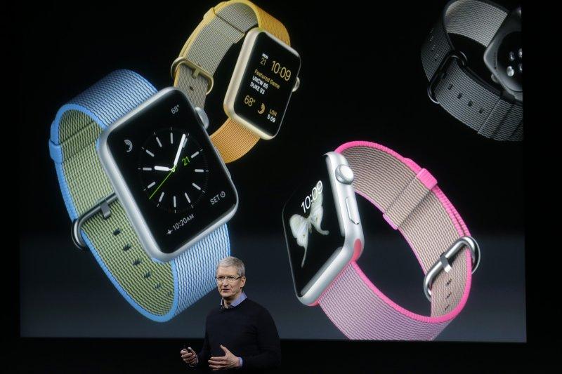 蘋果發表會,Apple Watch。(美聯社)