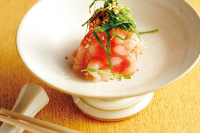 明太子與花枝搭配起來最對味,當作下酒菜再適合不過了(圖/山岳文化提供)