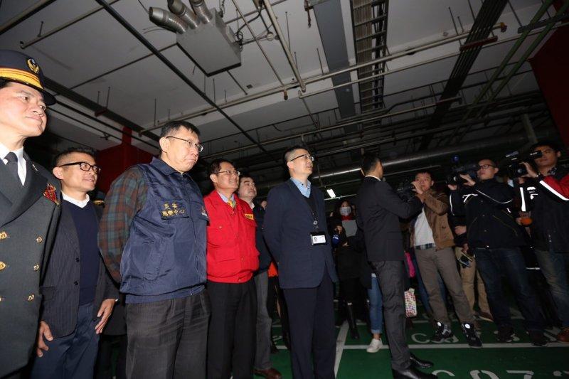 台北市長柯文哲25日出席北北基桃聯合災害防救演習。(台北市政府提供)