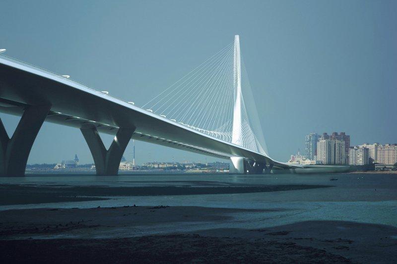 哈蒂設計的淡江大橋(取自網路)