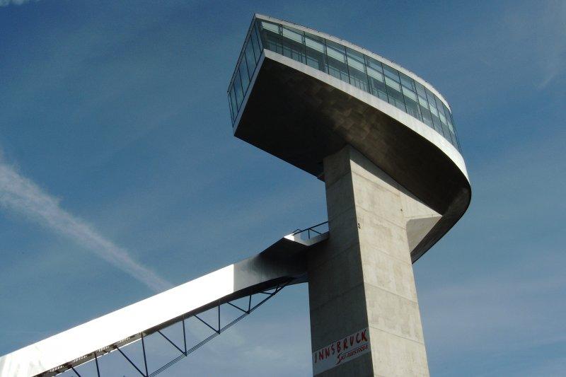 奧地利因斯布魯克(Innsbruck)的Bergisel跳高滑雪場(維基百科)
