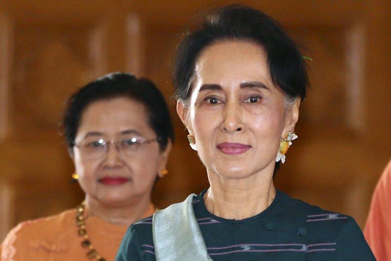 緬甸國務顧問、外交部長翁山蘇姬(美聯社)