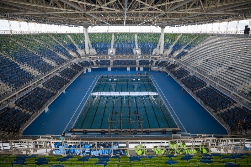 2016年巴西里約奧運,水上運動館(Aquatics Stadium)(美聯社)