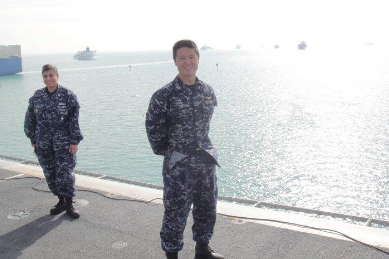 台裔美籍的美國海軍飛行軍官愛德華.林受控外洩國防機密資訊。(取自愛德華.林臉書)