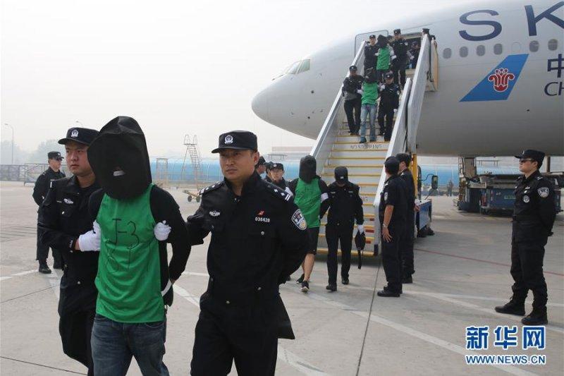 涉及肯亞電信詐騙案的44名台灣人於21日在北京宣判,其中台灣主嫌張凱閔、林金德各判15年徒刑,並被剝奪政治權利3年,以及罰金人民幣1.5萬元(約新台幣6.9萬元)。(資料照,新華社)