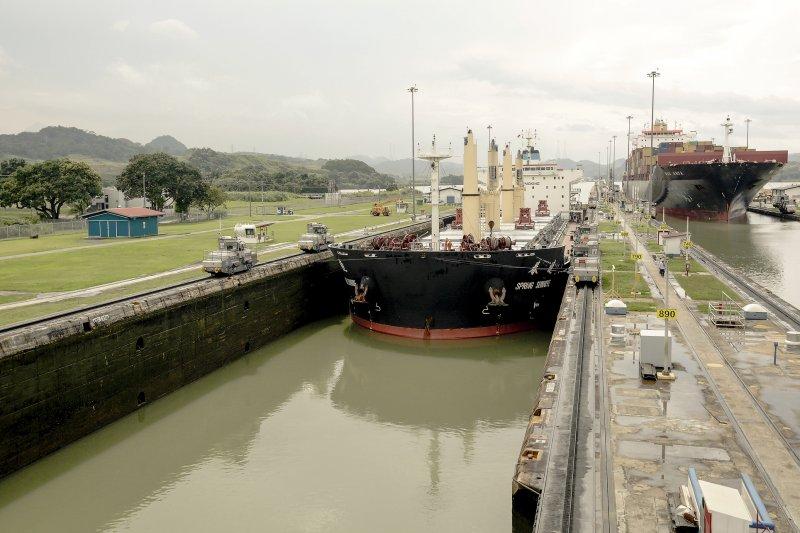 巴拿馬運河拓寬工程(美聯社)