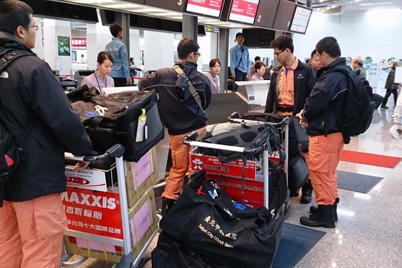 熊本大地震,內政部已請國內搜救隊待命。(台北市搜救隊臉書)