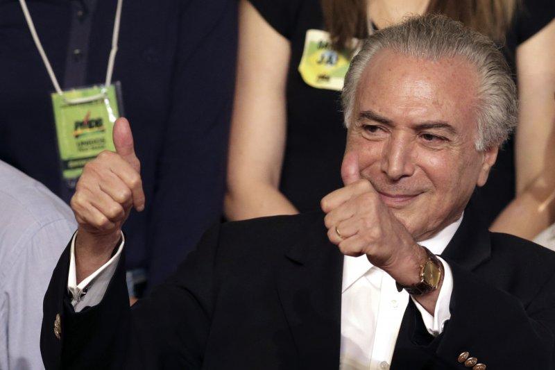 巴西總統羅賽芙如果遭彈劾下台,總統特梅爾(Michel Temer)將繼任(美聯社)