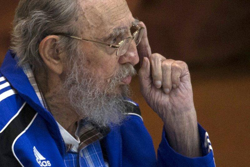 古巴共產黨第七次全國代表大會,菲德爾・卡斯楚。(美聯社)