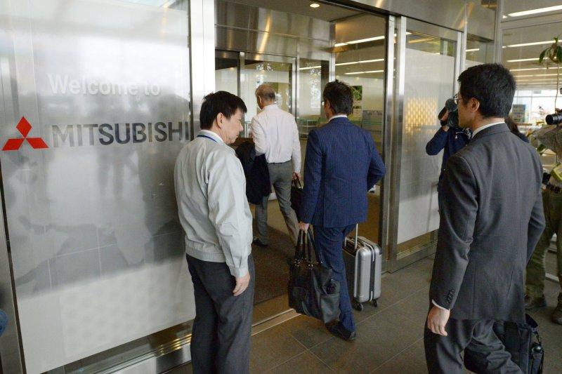 日本三菱汽車名古屋製作所技術中心21日遭到當局搜索(美聯社)