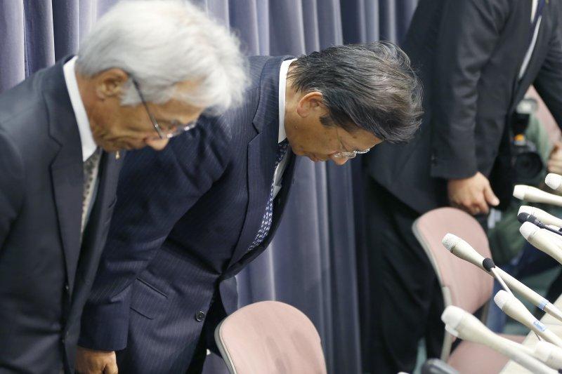 日本三菱汽車爆出油耗測試醜聞,公司領導階層鞠躬致歉(美聯社)