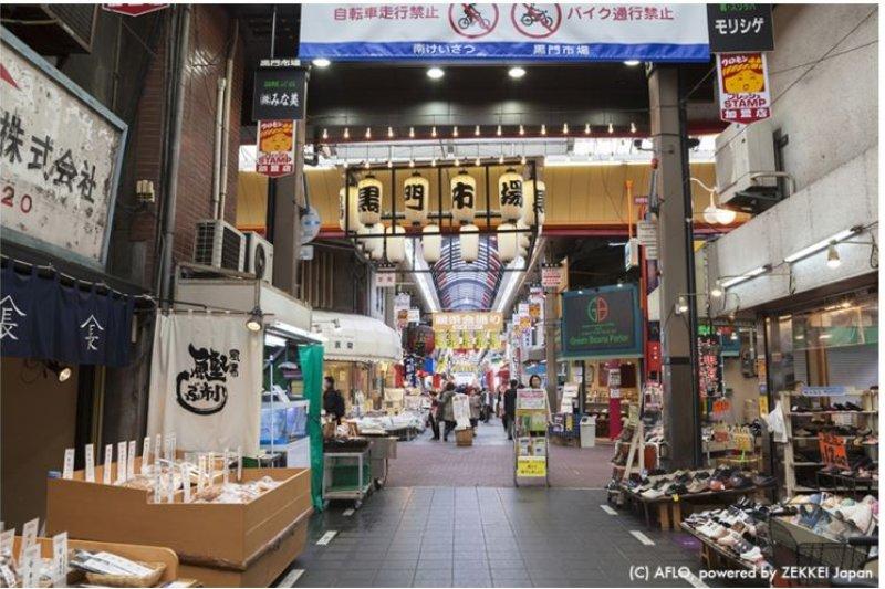 關東會想到築地市場,來關西就一定得來黑門市場逛逛!