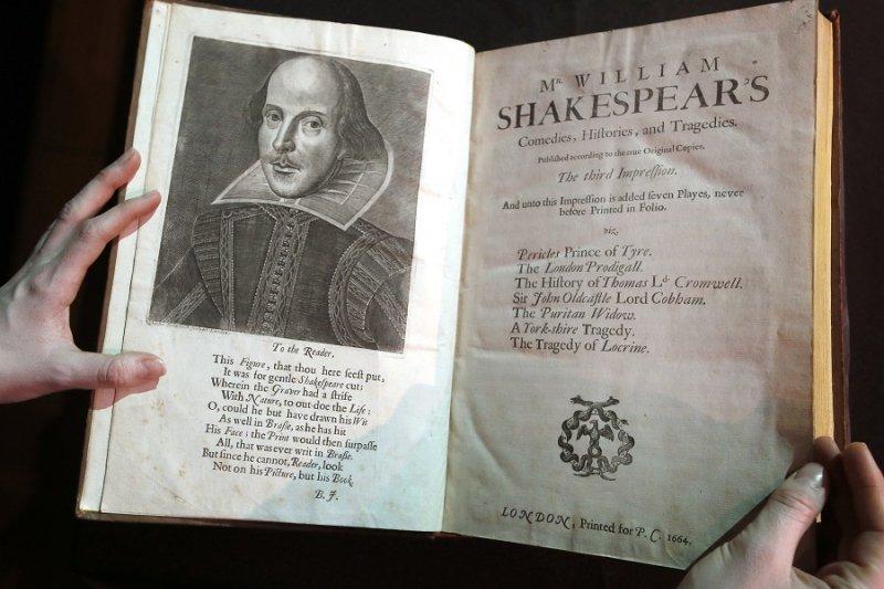 印有莎士比亞肖像的第三對開本(美聯社)