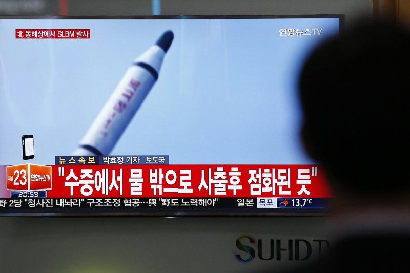 北韓近年積極研發潛射彈道飛彈(美聯社)