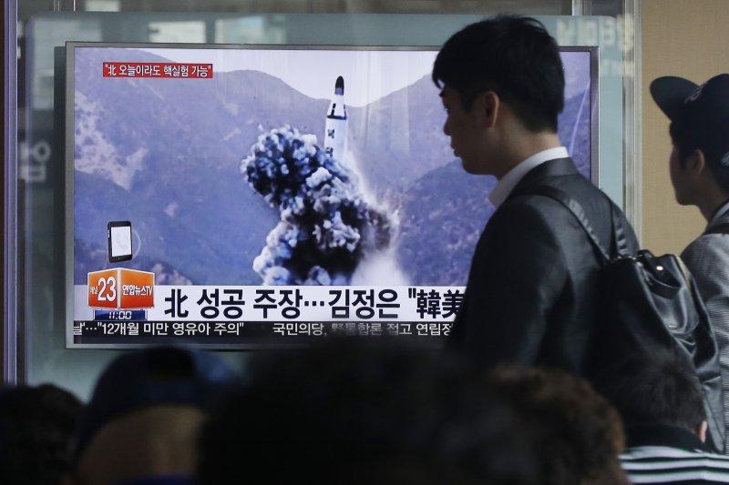 南韓報導北韓試射長程飛彈的消息。(美聯社)