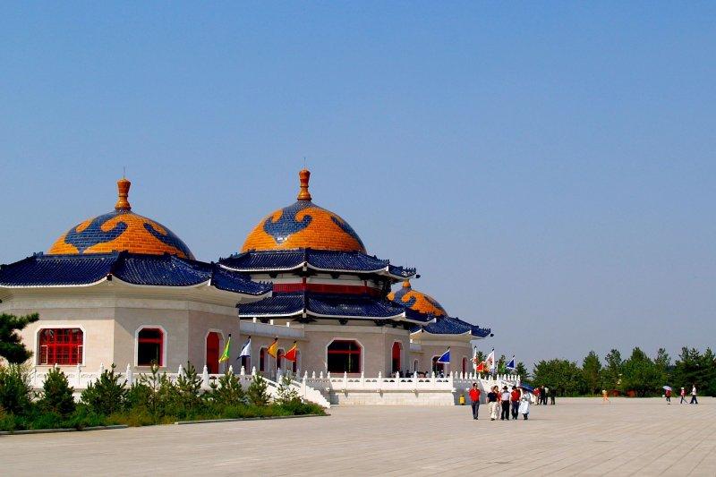 鄂爾多斯市伊金霍洛旗的成吉思汗陵。(資料照,風傳媒)