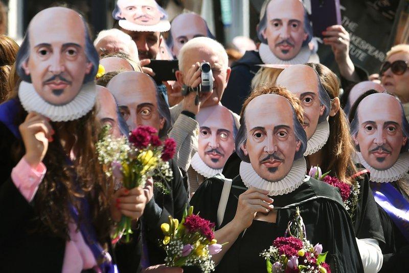 英國紀念莎士比亞逝世400周年(美聯社)