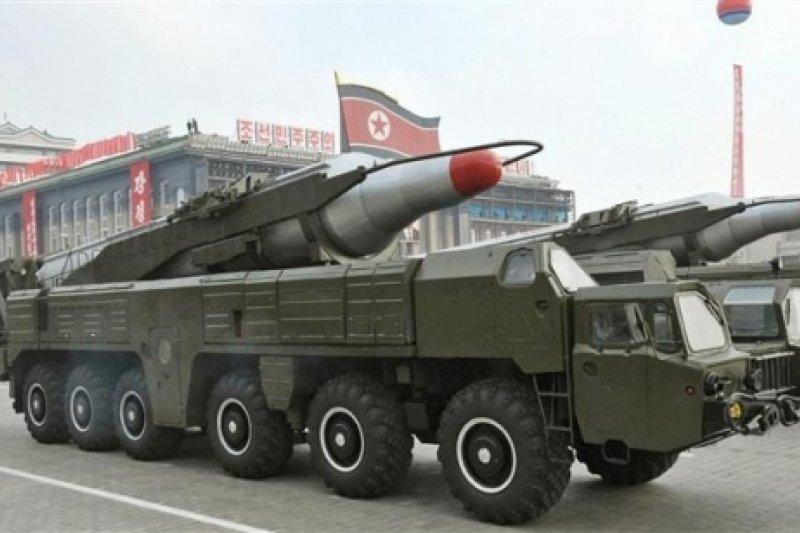 北韓的舞水端中程彈道飛彈。