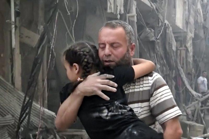 敘利亞第一大城阿勒坡(Aleppo)慘遭戰火蹂躪(美聯社)