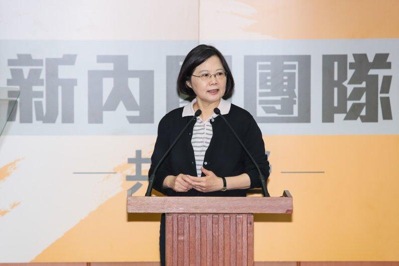 準總統蔡英文30日出席「新內閣團隊」共識營。(顏麟宇攝)