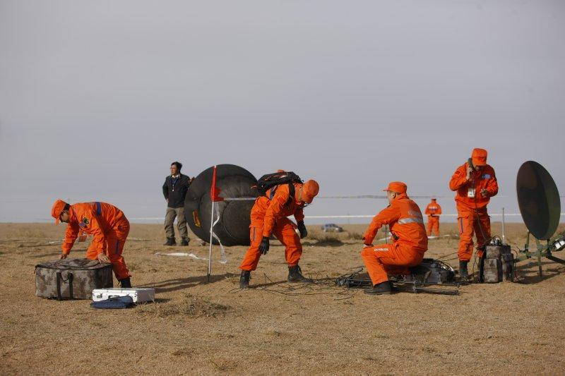 中國首顆微重力科學實驗衛星實踐十號返回地球(新華社)