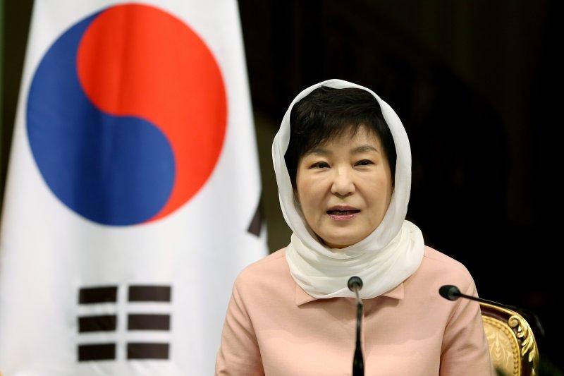 南韓總統朴槿惠訪問伊朗。(美聯社)