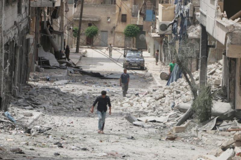 雖然各國已達成敘利亞停戰協議,但北部大城阿勒坡仍衝突不斷。(圖/取自推特)