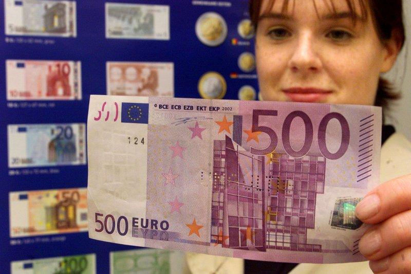 500歐元紙幣將在2018年底停止發行。(美聯社)