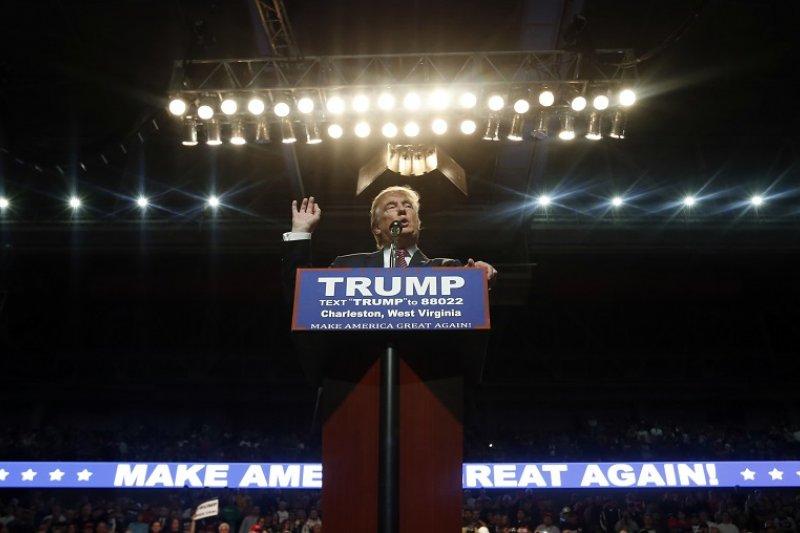 美國總統參選人川普首度對英國脫歐前景表示個人立場(美聯社)